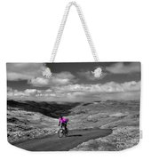 Pedalling The Pass In Pink  Weekender Tote Bag