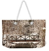 Pedestrian Bridge In The Snow Weekender Tote Bag