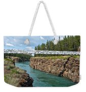 Pedestrian Bridge Over Yukon River In Miles Canyon Near Whitehorse-yk Weekender Tote Bag