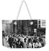 Pedestrians In New York Weekender Tote Bag