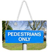 Pedstrians Only Weekender Tote Bag by Tom Gowanlock