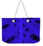 Peek-a-boo Leaf In Purple Weekender Tote Bag