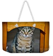Peekaboo Kitty Weekender Tote Bag