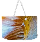 Peeking At Treasure In Lower Antelope Canyon In Lake Powell Navajo Tribal Park-arizona   Weekender Tote Bag
