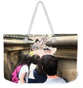 Peeking Through The Opening To Watch The Show Weekender Tote Bag