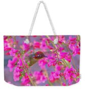 Peeking Through The Pink Penstemons Weekender Tote Bag