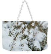 Peeking Through The Snow Weekender Tote Bag