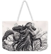 Pegasus Tamed By The Muses Erato And Calliope Weekender Tote Bag