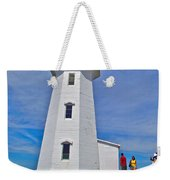 Peggy's Cove Lighthouse Closeup-ns Weekender Tote Bag