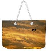 Pelican Against The Golden Sky Weekender Tote Bag