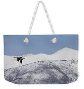 Pelican And Mountains Weekender Tote Bag
