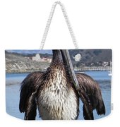 Pelican At Avila Beach Ca Weekender Tote Bag