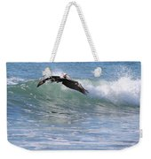 Pelican At Playa Grande Weekender Tote Bag