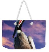 Pelican At Sunset Weekender Tote Bag