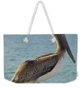 Pelican At The Gulf Weekender Tote Bag