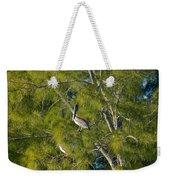 Pelican In The Trees Weekender Tote Bag