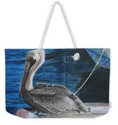Pelican On A Boat Weekender Tote Bag