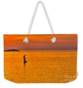 Pelican On A Buoy Weekender Tote Bag by Marvin Spates