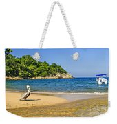 Pelican On Beach Weekender Tote Bag