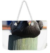 Pelican On Piling Weekender Tote Bag