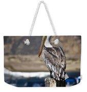 Pelican On Post Weekender Tote Bag