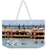 Pelican Pier Weekender Tote Bag