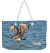 Pelican Taking Off Weekender Tote Bag