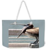 Pelican Yawn - Digital Painting Weekender Tote Bag
