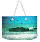 Pelicans Enjoying The Mighty Pacific Impressionism Weekender Tote Bag