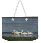 Pelicans In Floodwaters Weekender Tote Bag