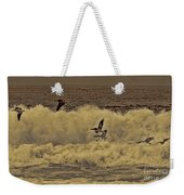 Pelicans In The Surf Weekender Tote Bag