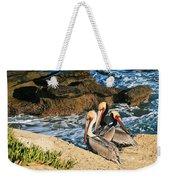 Pelicans On The Cliff - La Jolla Cove Weekender Tote Bag