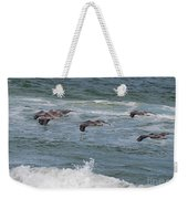 Pelicans Over The Water Weekender Tote Bag