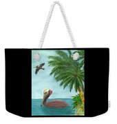 Pelicans Palm Trees Tropical Birds Cathy Peek Weekender Tote Bag