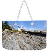 Pemaquid Point Lighthouse In Maine Weekender Tote Bag