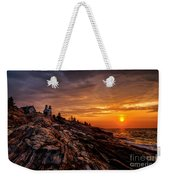 Pemaquid Sunrise  Weekender Tote Bag by Jerry Fornarotto