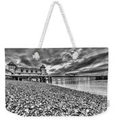 Penarth Pier 2 Mono Weekender Tote Bag