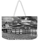 Penarth Pier Panorama Monochrome Weekender Tote Bag