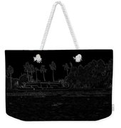 Pencil - A Houseboat On Its Quiet Sojourn Through The Backwaters Weekender Tote Bag