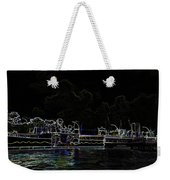 Pencil - Statue Of The Merlion And Viewing Platform Weekender Tote Bag
