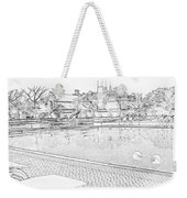 Pencil - Swimming Pool And A Leisure Chair Weekender Tote Bag