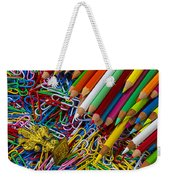Pencils And Paperclips Weekender Tote Bag