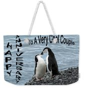Penguin Anniversary Card Weekender Tote Bag