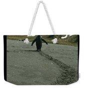 Penguin Travel Poster Weekender Tote Bag