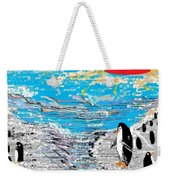 Penguins At Five O'clock Weekender Tote Bag