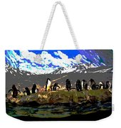 Penguins Line Dance Posterized 2 Weekender Tote Bag