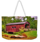 Pennsylvania Country Roads - Everhart Covered Bridge At Fort Hunter - Harrisburg Dauphin County Weekender Tote Bag