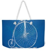 Penny-farthing 1867 High Wheeler Bicycle Blueprint Weekender Tote Bag