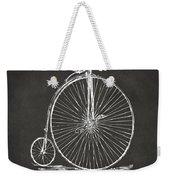 Penny-farthing 1867 High Wheeler Bicycle Patent - Gray Weekender Tote Bag