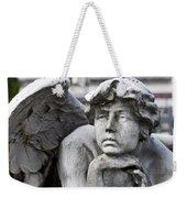 Pensive Angel Detail Monumental Cemetery Milan Italy Weekender Tote Bag